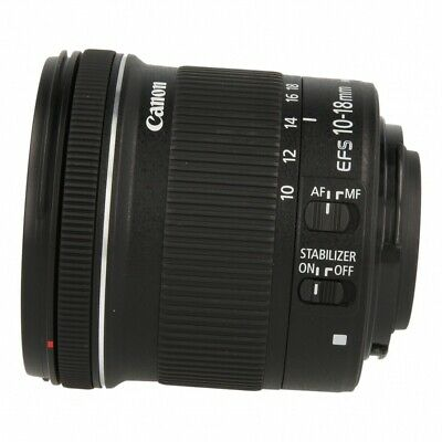 Canon EF-S 10-18mm_1:4.5-5.6 IS STM nero A++ (come nuovo)