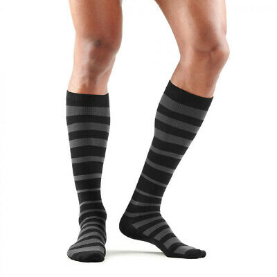 Skins Mens Recovery Compression Socks Black Grey Sports Gym Running Breathable