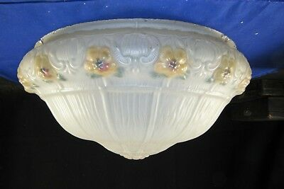 "Frosted Glass Ceiling Light Shade,Chandelier Center 14"" Fitter,Flowers Lamp"