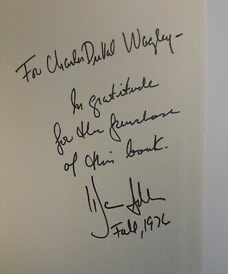 """American Author, Playwright Warren Adler Signed Book """"The Henderson Equation"""""""