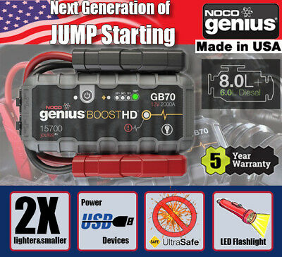 NOCO Genius GB70 Boost Pack Jump Starter- Portable - Ideal for camping