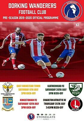 2019/20 Dorking Wanderers V Charlton Athletic - Pre Season Friendly Programme