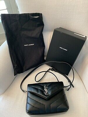 9f2d3aede02 YSL Saint Laurent Toy Lou Lou Crossbody Bag Black Nero New With Tags