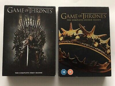 GAME OF THRONES.. The Complete First & Second Series DVD BOX SET