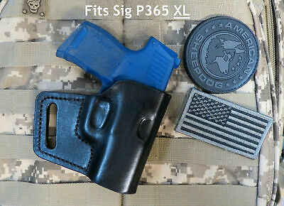 FITS SIG P365 & P365 XL, Off Duty Leather Holster, Made in