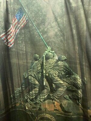 Rare Official 2017 Marine Corps Marathon Shirt Men's MEDIUM MCM 26.2