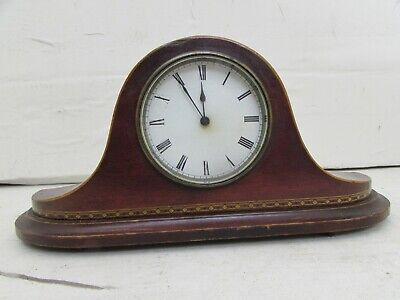 Antique Wooden Mantel Clock By British Maker Edwin Routley of Bath, Fully Runnin