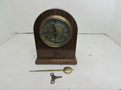 Antique Winterhalder & Hofmeier 8 Day Ting Tang Bracket Clock Dome Top Case