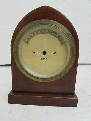 Early 20th Century Mahogany Cased Galvanometer, Missing Mechanism/For Parts