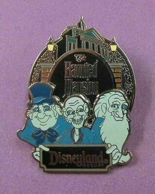 Disney Pin DLR Haunted Mansion Logo with Hitchhiking Ghosts EZRA GUS PHINEAS