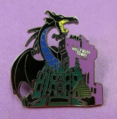 Disney Storybook Night Mystery - Maleficent Haunted Mansion & Tower Terror Pin