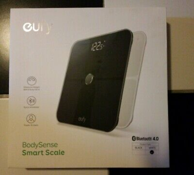 Eufy BodySense Smart Scale with Bluetooth, WHITE Large LED Display Weight/Body