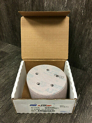 "New Norton 31571 5"" Hook Loop 5 Hole Sanding Discs P600 Grit A275 Full Box 100"