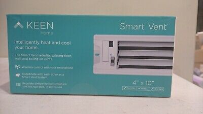 Keen Home Smart Vent (Latest Design) Sidewall / Ceiling Register KHSV Size 4x10
