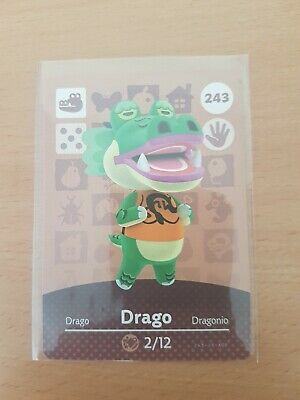 animal crossing new leaf welcome  amiibo card  drago 243