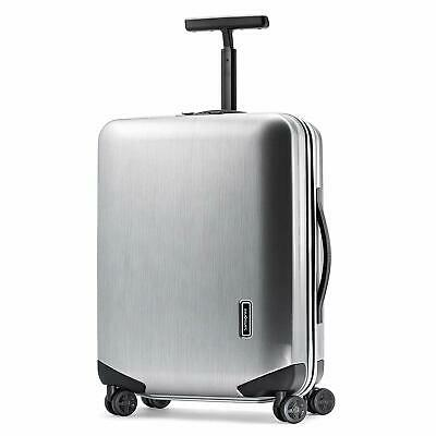 Samsonite Inova 20 Inch Hardside Spinner Metallic Silver Travel Suitcase Luggage
