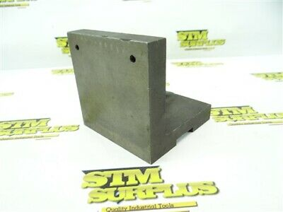 "Heavy Duty Cast Iron Right Angle Plate 4"" X 4"" X 4"""