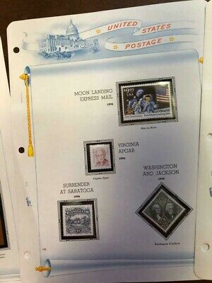 lot US Scott #2842 1994 $9.95 Moon Landing  Express Mail & High value stamps DC6