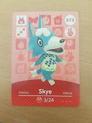 animal crossing new leaf welcome  amiibo card Skye 272
