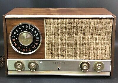 Vintage Zenith AM / FM Tube Radio Model MJ1035 Stereophonic Wooden Radio 1950s
