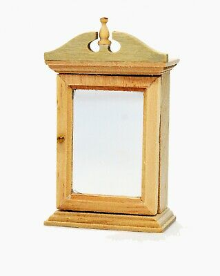Dolls House Miniature Cabinet With Mirror Keys Hall Bathroom Kitchen Furniture