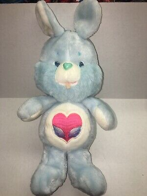 Swift Heart Rabbit Vintage Care Bear 13 inch Plush Toy Stuffed Kenner 1983