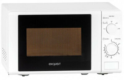 Exquisit 910089 MW802 - Countertop - 20 L - 700 W - Rotary - White - Push