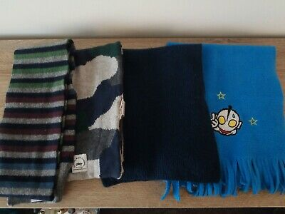 Bulk Pack 4 X Boys Scarves Country Road Scooter Blue