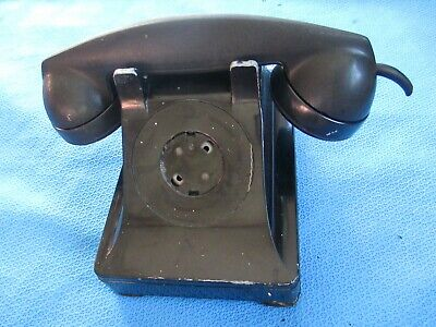 Vintage Metal Western Electric Bell System F1 Rotary Dial Desk Phone Telephone