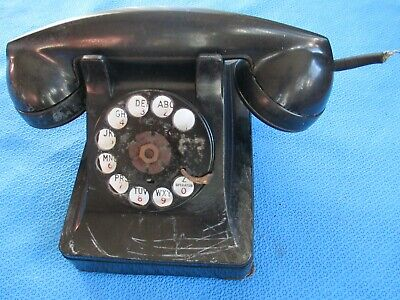 Vintage Bakelite Western Electric Bell System F1 Rotary Dial Phone Telephone