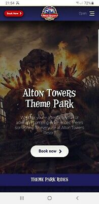 Alton Towers E-Tickets x 4 for any date in July, August, September, October 2019