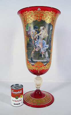 HUGE Vintage Murano Vase By Giancarlo Begotti for ARS Cenedese aft G Boldini yqz