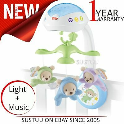 Fisher-price Papillon 3 IN 1 Projecteur Mobile ¦ pour Bébé Musical Poussette /