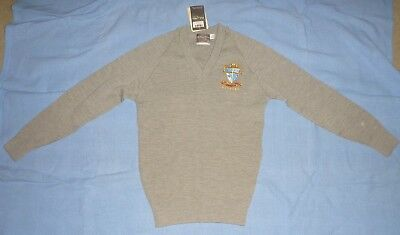 BNWT Radford College kids sz12 grey school jumper