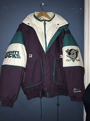 VINTAGE NUTMEG ANAHEIM MIGHTY DUCKS NHL HOCKEY JACKET MEN SIZE Large