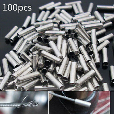 100x Bicycle Shifter Brake Gear Inner Cable Tips Ends Caps Crimp Ferrule B/&H