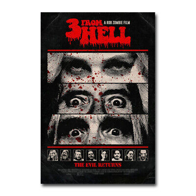 3 from Hell Horror Movie Sequel to The Devil's Rejects Silk Canvas Poster Print