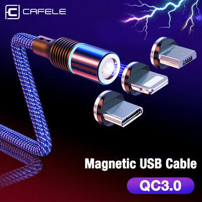Magnetic 1/2M Cable Type C Micro USB Fast Data Sync Charging Charger Phone Cable
