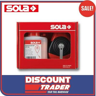 SOLA Red Chalk Line Reel Set 30m CLP30SETR - 66110642