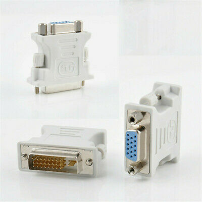 DVI-D Male to 15 Pin VGA Female Converter Adapter 24+1 Dual Link for PC Laptop