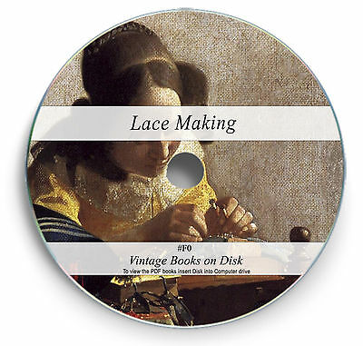 Rare Books on DVD - Antique Lace Making Patterns Designs - Collecting Fabric F0