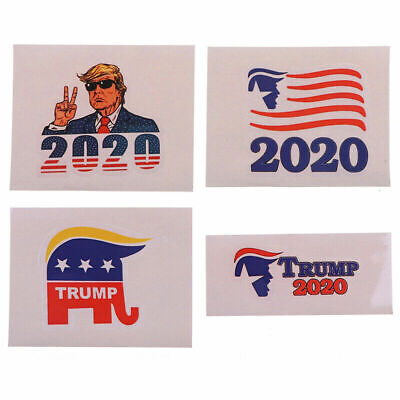 4pcs President DONALD TRUMP 2020 Decal Car Window Laptop Bumper Stickers Lot