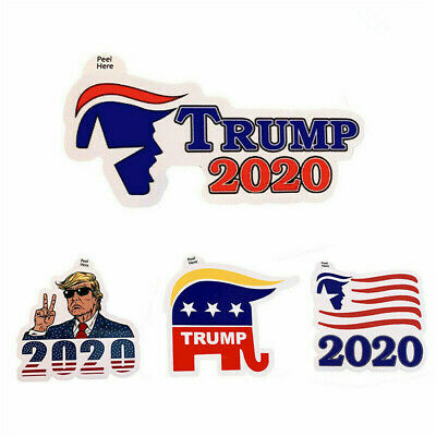 4PCS President DONALD TRUMP Head 2020 Decals Stickers Car Window Laptop Bumper