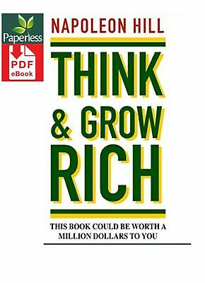 Think and Grow Rich by Napoleon Hill  [D I G I T A L DELIVERY]       E - book