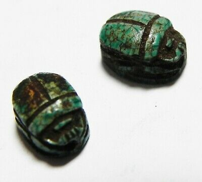 Zurqieh -As13277-  Ancient Egypt. Lot Of Two Stone Scarabs. 1400-1200 B.c