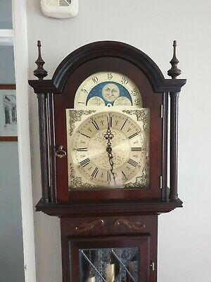 Stunning western Germany Made Antique Longcase Grandfather Clock, 3 Chimes