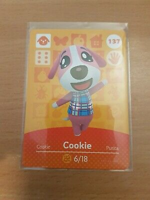 animal crossing new leaf welcome  amiibo card cookie 137