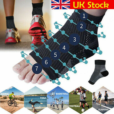 Pair Compression Ankle Socks Foot Heel Sleeve Arthritis Pain Relief feet Support