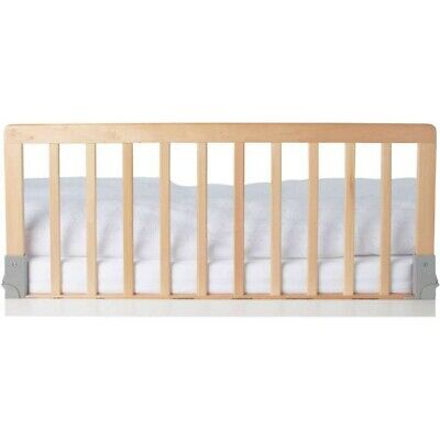 M105 BabyDan Children's Wooden Bed Rail Deluxe Safety Toddler Bed Guard Natural