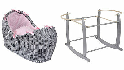 Brand new Clair de lune grey noah pod in pink dimple with grey rocking stand